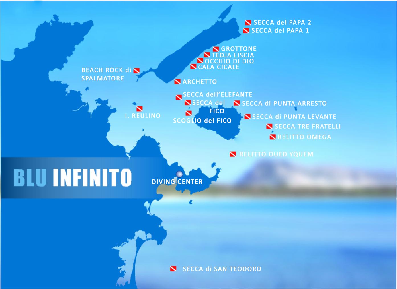Cartina Di San Teodoro Sardegna.Immersioni Blu Infinito Diving Center